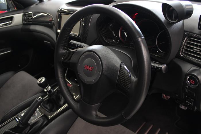 スバル WRX STI シートコーティング ステアリング レザー