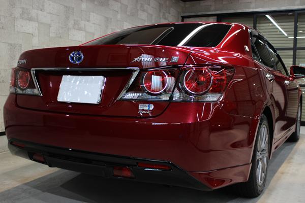 トヨタ クラウン 紅リッチレッドクリスタルシャインガラスフレーク リアバンパー2