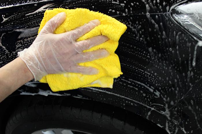洗車 マイクロファイバークロス3