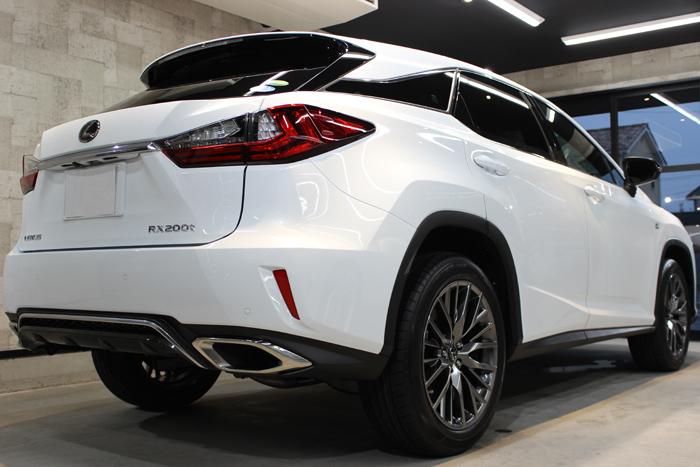レクサス RX 200t Fスポーツ ホワイトノーヴァガラスフレーク 新車