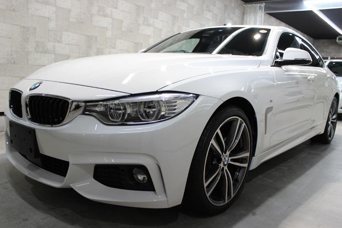 BMW 4シリーズ グランクーペ アルピンホワイト フロントバンパー1