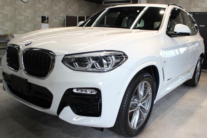 BMW X3 アルピンホワイト Mスポーツ フロントバンパー1