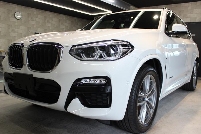 BMW X3 アルピンホワイト Mスポーツ キドニーグリル