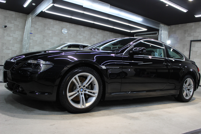 BMW 650i ブラックサファイア ホイール左