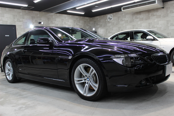 BMW 650i ブラックサファイア ホイール右