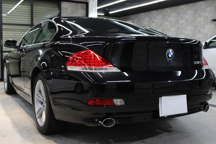 BMW 650i ブラックサファイア リアバンパー