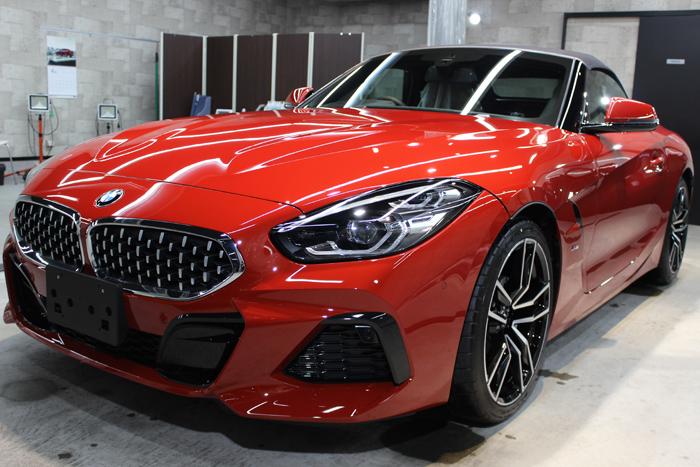BMW Z4 サンフランシスコレッド フロントバンパー左
