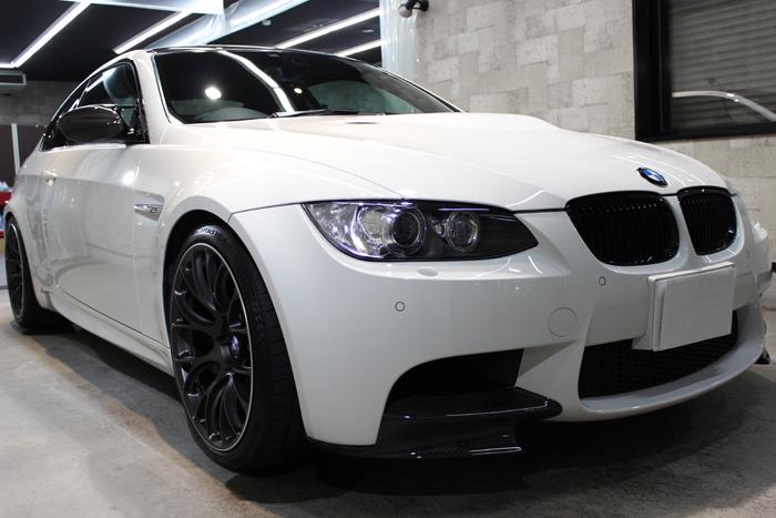 BMW M3 アルピンホワイト フロントバンパー右