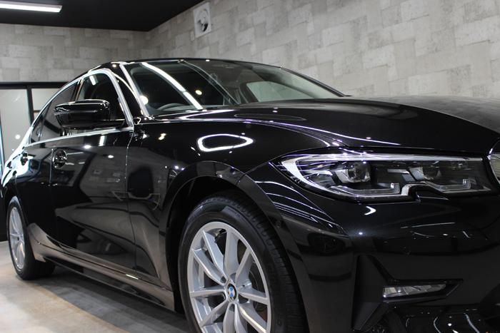 BMW 3シリーズ ブラックサファイア ヘッドライト