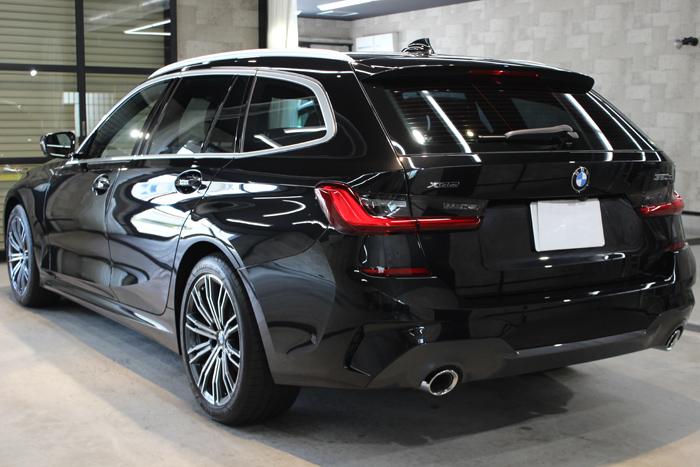 BMW 320d ブラックサファイア リアバンパー