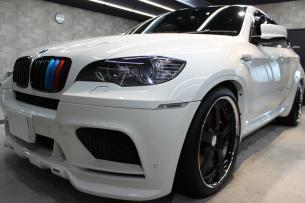 BMW X6 M アルピンホワイト フロントバンパー1