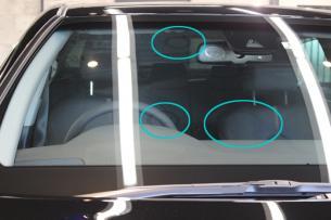 トヨタ カムリ アティテュードブラックマイカ 窓ガラス1