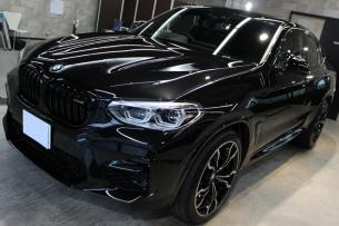 BMW X4 Mコンペティション ブラックサファイア ボンネット左