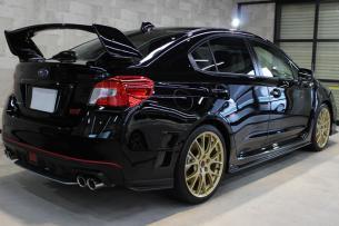 スバル WRX STI クリスタルブラックシリカ リアバンパー