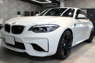 BMW M2 アルピンホワイト フロントバンパー左
