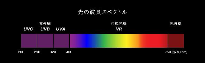 光の波長スペクトル