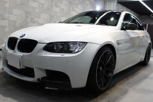 BMW M3 アルピンホワイト フロントバンパー左