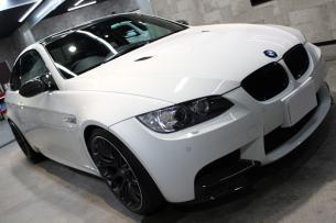 BMW M3 アルピンホワイト ボンネット右