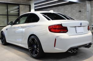BMW M2 アルピンホワイト リアバンパー